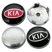 4Pcs 60mm with 56mm Logo For kia Car Wheel Center Hub Cap Badge Sticker Car Wheel Dust proof Covers Decal Car Styling Accessorie