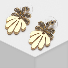 Amorita boutique Leaf designs stylish metal drop earrings