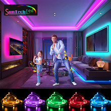Suntech Led Strip,5m-30m SMD 5050 Bluetooth Music Led Lights, Phone App Remote Control,Decoration For Bedroom,Living Room