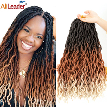 Braiding-Hair Crochet-Hair Ombre Soft Locs Black Synthetic New 18inch Brown Bug for Women