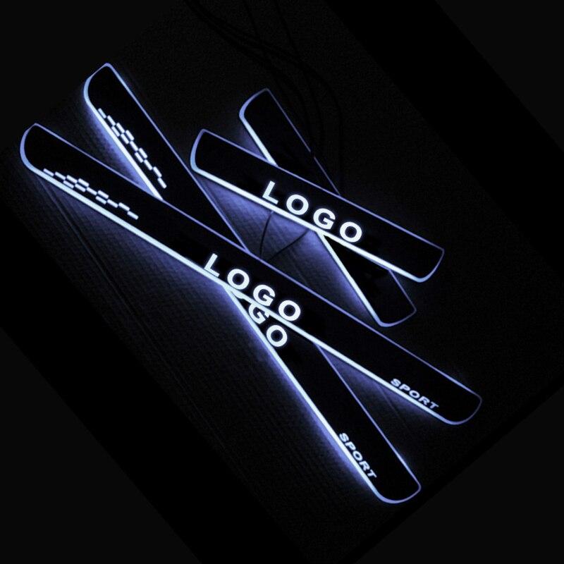 Seuil de seuil de pédale de porte LED pour Audi A2 8Z0 2000-2005