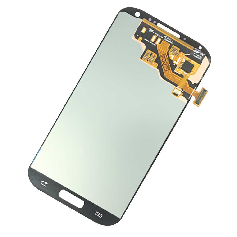 10 قطعة لسامسونج غالاكسي S4 مجموعة المحولات الرقمية لشاشة تعمل بلمس I9500 I9505 سوبر AMOLED شاشة الكريستال السائل 100% اختبار العامل