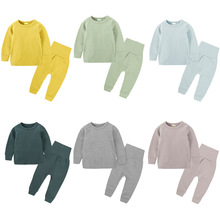 Pants Thermal-Underwear John Girls Long Thick Top Baby's-Tummy-Set Suede And Autumn Boys