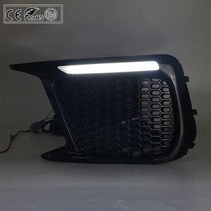 Image 5 - 2pcs רכב דינמי DRL עמיד למים 12V LED בשעות היום ריצת אור + סדרתית LED הפעל אות אורות לסובארו WRX 2018 2019 2020
