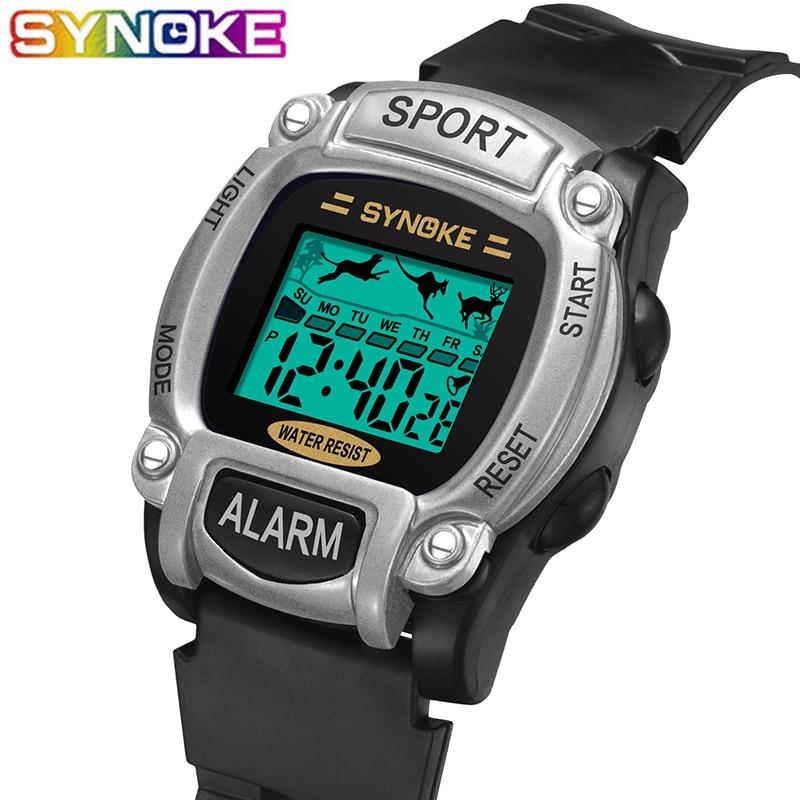 SYNOKE New Arrival Sport Children Digital Watches Waterproof Multi Function Children Wristwatch Stopwatch Alarm Clock Boys Girls