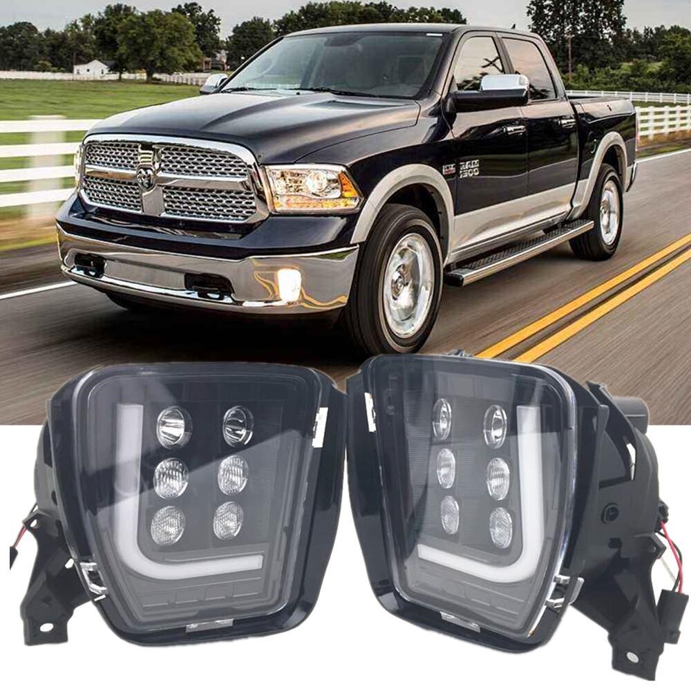 For Dodge RAM 1500 2500 3500 2013-2018 Led Fog Driving Light Fog Lamp Assembly With Bright LED DRL For Dodge Ram Car