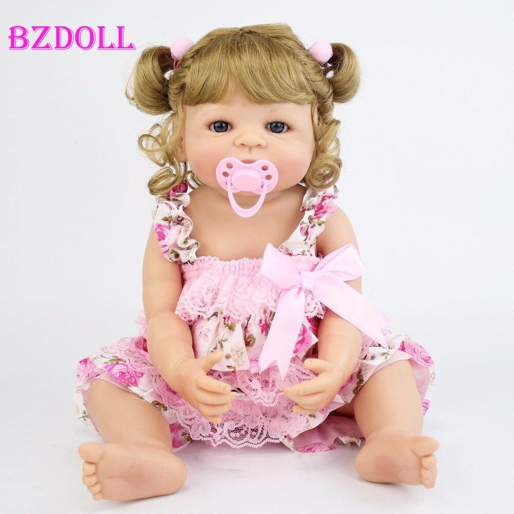 Muñeca realista de vinilo de 55cm para niñas, juguete de bebé recién nacido, juguete de baño, regalo de cumpleaños