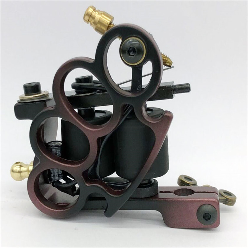 Hot Sale 3 Color Coils Tattoo Machine 10 Warp Coils Cast-iron Handmade Tattoo Guns Machine For Liner Shader Free Shipping