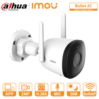 DAHUA-cámara IP de detección humana para exteriores, videocámara de vigilancia CCTV con Wifi, visión nocturna de 98 pies, grabación de sonido de Punto de Acceso integrado, ONVIF