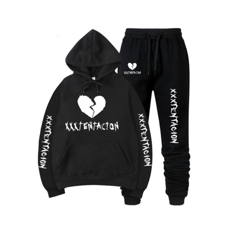 2019 New Autumn/Winter XXXTentacion Revenge Kill Hip Hop Hoodies Sweatshirts And Sweatpants Men Two Piece Set Hooded Suit Velvet