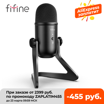 FIFINE USB Microphone for Recording/Streaming/Gaming,professional microphone for PC,Mic Headphone Output&Volume Control-K678 1