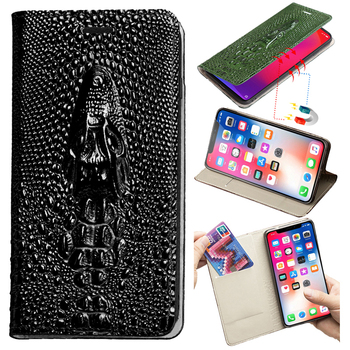 Leather Flip Phone Case For Xiaomi Redmi Note 9S 9 8 8T 8A 7 7A 6 6A 5 Plus 5A 4X 4 3 K30 Pro Cover Dragon Head Wallet Bag