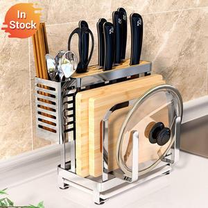 Organizer Knife Stand-Plate-Holder Chopsticks Cutting-Board Drying-Rack Kitchen-Drain-Shelf