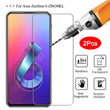 For Asus Zenfone 6 ZS630KL Tempered Glass for 5 5Z ZE620KL ZS620KL Max Pro M2 M1 ZB631KL ZB633KL ROG Phone 2 II Screen Protector(China)
