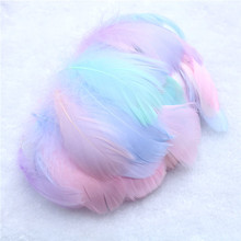 100 Pcs / Bag Natural Goose Feathers Plumes 6-12cm Colourful Swan Feather Plume for Home Decoration Craft DIY Jewelry