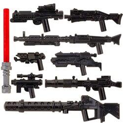 Koruit estrela espaço w armas para 4cm mini bonecas sabre de luz blaster armadura moc blocos de construção tijolos brinquedos figuras para crianças