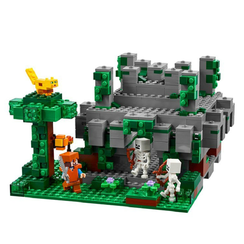 The Jungle Temple Building Block With Steve Action Figures Compatible LegoINGlys MinecraftINGlys Sets Toys For Children 21132 9