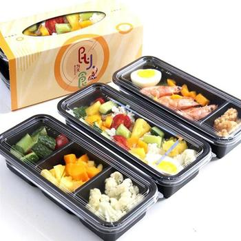 15pcs Disposable Lunchbox Plastic Eco-friendly Bento Box Sushi Box Portable Food Storage Container for Kitchen Restaurant