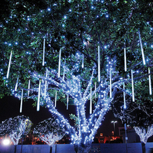 New Year 30cm 50cm Outdoor Meteor Shower Rain 8 Tubes LED String Lights Waterproof For Christmas Tree Wedding Party Decoration все цены