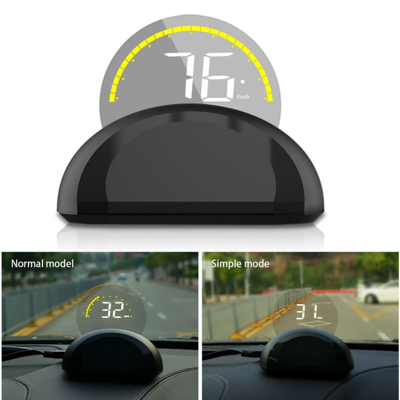 Car Hud display OBD2 on- board computer for car with a Display Mirror Digital Projection For Speedometer Fuel Mileage Temp alarm