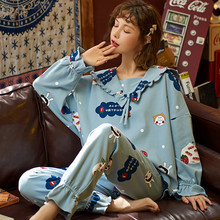 Winter Sleep Lounge Pajama Long Sleeve Top + Long Pant Woman