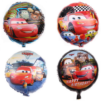1pcs Disney Cars Lightning McQueen Theme 18 inch Aluminum Film Balloon Cartoon Birthday Party Decorations Baby Shower Supplies image