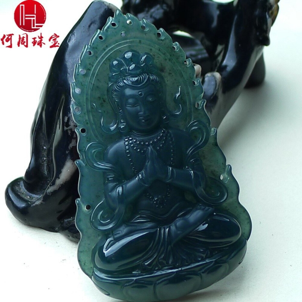 Hezhou jewelry!Myanmar natural jade!Beautifully hand-carved!Guanyin pendant!Exquisite workmanship! 37.30g 2