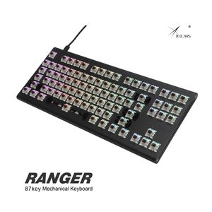 Image 4 - X Bows 87 Programmable CNC Case RGB Backlight Hotswap Hot Swap KB 6 Type C PCB Ranger MX Mechanical Keyboard Kit