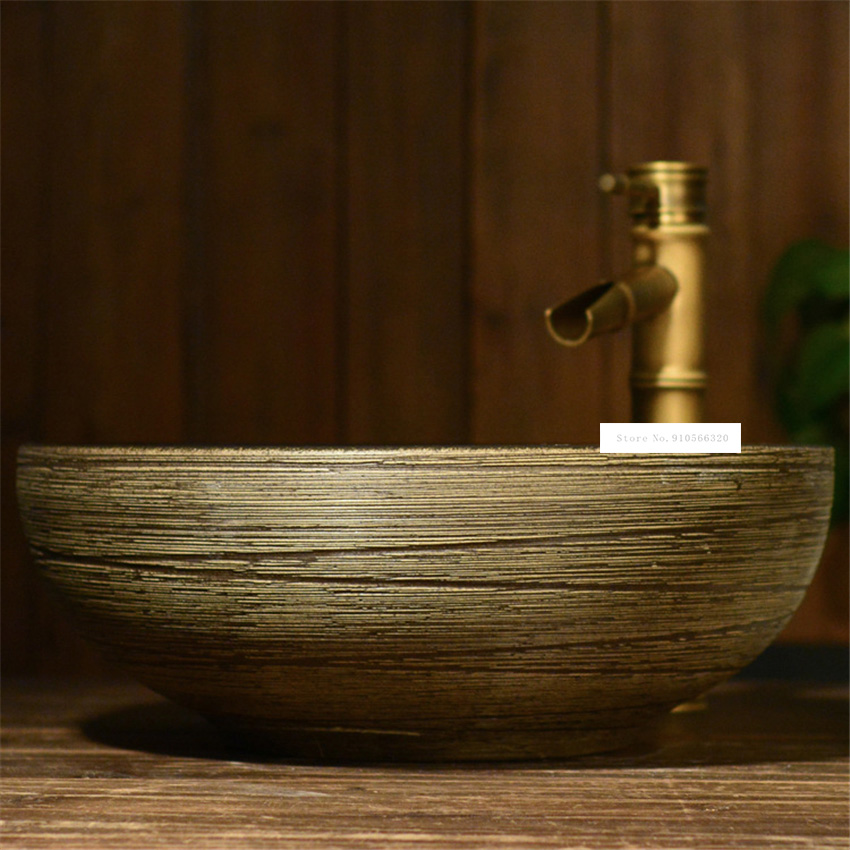 Bathroom Artistic Line Basin Household, Artistic Bathroom Sinks