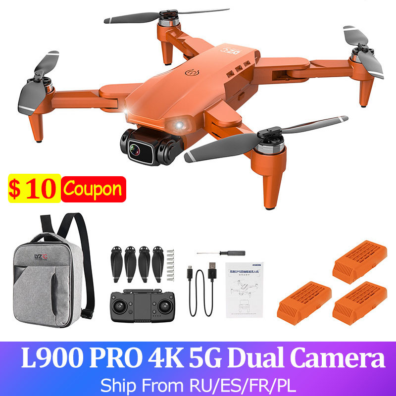 GPS L900 PRO 4K RC Drone With Camera Dron 2-axis FPV 5G Quadcopter Brushless Motor 1.2KM 28min Flight Professional RC Helicopter