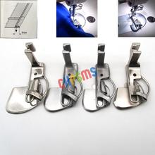 Juego de dobladillo doble Tipo de resorte, ajuste de pie, para Juki DDL 555, DDL 5550 #490359 1/16 + 1/8 + 3/16 + 1/4