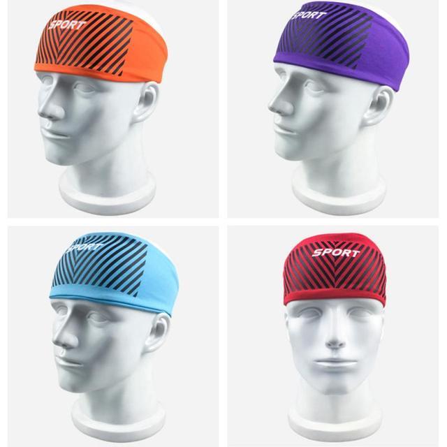 Anti-perspirant sweatband fashion unisex yoga fitness headband run indoor sports sweat guide turban protection anti-sweat  belts 5