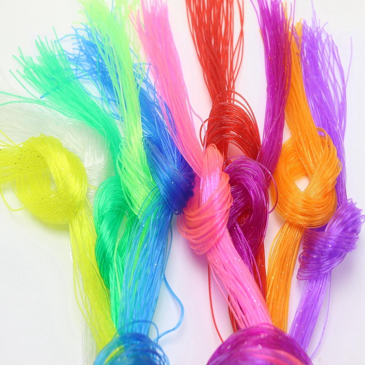 50 метров разноцветный 0,8 мм твердый ПВХ пластиковый плетеный шнур для бисероплетения ювелирных изделий