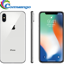Оригинальный Apple iPhone X 64 Гб 256 Гб ПЗУ 5,8 дюймов iOS шестиядерный 12.0MP двойная задняя камера разблокирован 4G LTE iphone x