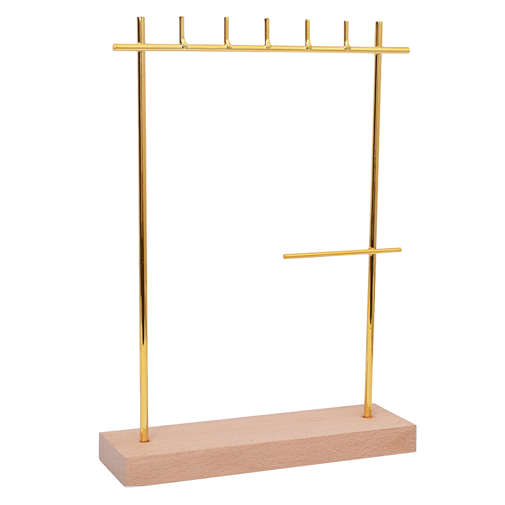 Ring Earrings Organizer Hanging Hanger Bracelet Necklace Display Stand Rack Gold Earring Rack Jewelry Showing Rack