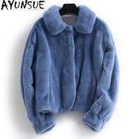 AYUNSUE Echt Nerz Pelzmantel Weibliche Luxus Natürliche Pelz Jacken Winter Jacke Frauen Kleidung 2019 Kurze Warme Mantel Chaqueta Mujer MEIN