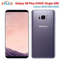 New Global Version Samsung Galaxy S8 Plus S8+ G955F Mobile Phone Exynos 8895 Octa Core 4GB RAM 64GB 6.2 12MP NFC Android Phone