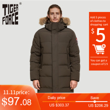 Men Winter Coat Jacket Alaska Tiger-Force Artificial-Fur Hooded Thicken Men's Detachable