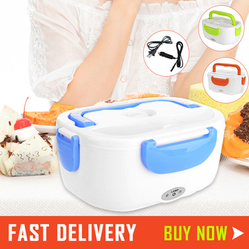 1.05L Electric Lunch Box Rice Box Food Warmer 110V 220V Bento With Lid Electric Heating Lunch Box Car Dual Use Rice Box image