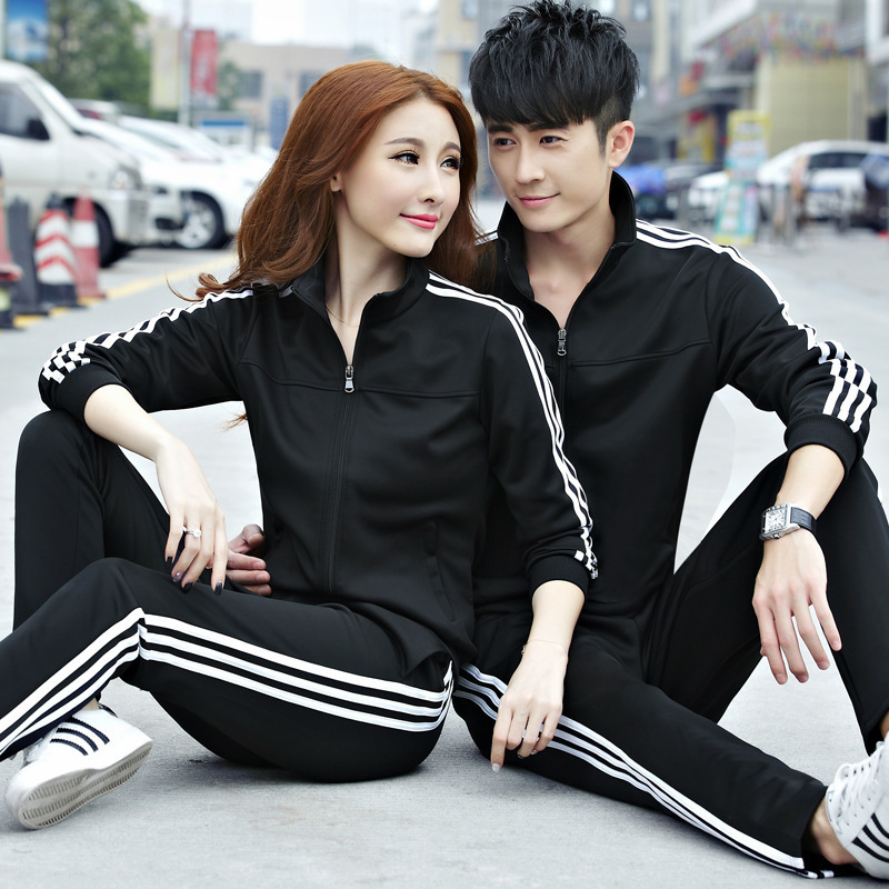 Sports Set Men's Spring And Autumn Youth Sports Clothing Women's Casual Couple Clothes Large Size Running Sports Clothing Custom