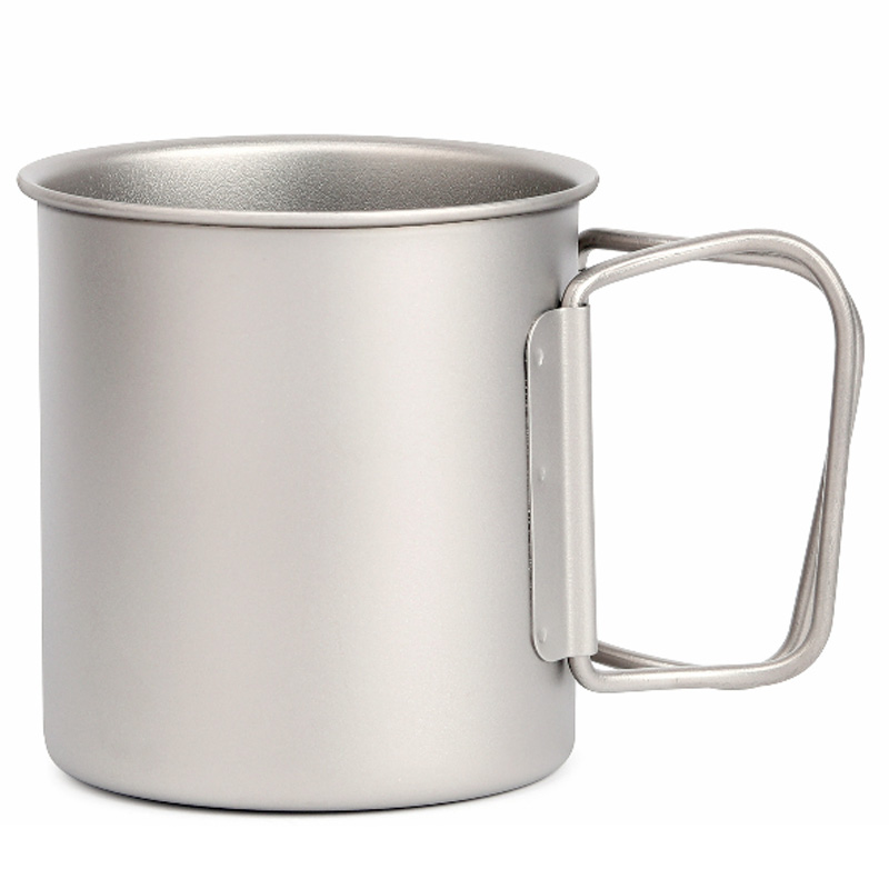 Titanium Folding Water Mugs Drinkware Outdoor Camping Cups No Lid Ultralight Portable Outdoor Travel Mug 220Ml|Outdoor Tools| |  - title=