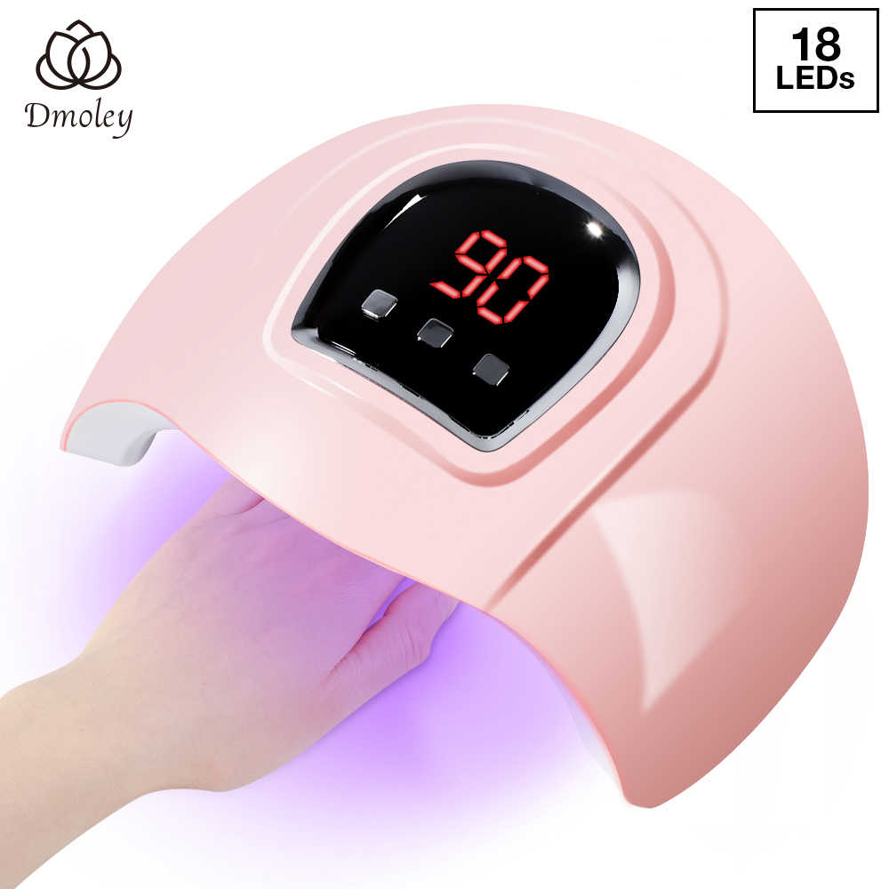 36/54W Nail Dryer UV Lamp LED Lamp For Nails With 18/36 LEDs Dryer Lamp For Curing Gel Polish Auto Sensing Nail Manicure Tools