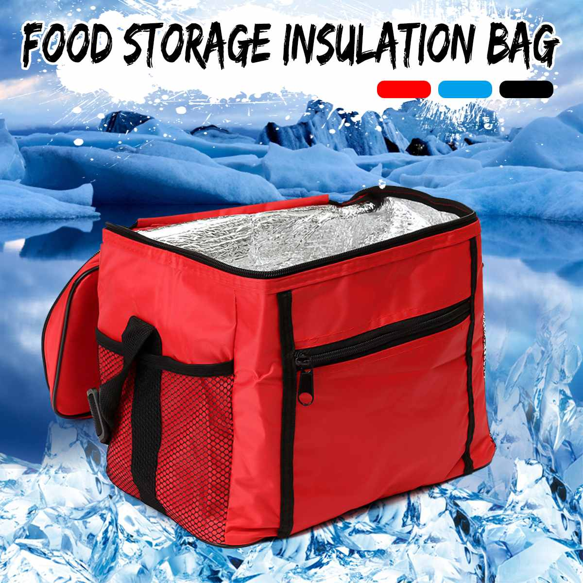 Foldable Large Cooler Bag Picnic Insulation Bags For Food Packing Container Drink Aluminum Foil Thermal Box Delivery Ice Pack