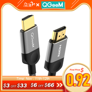 Image 1 - QGEEM HDMI Cable HDMI to HDMI 2.0 Cable 4K for Xiaomi Projector Nintend Switch PS4 Television TVBox xbox 360 1m 2m 5m Cable HDMI