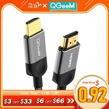 Qgeem hdmiケーブルhdmi 2.0ケーブル4 18k xiaomiプロジェクターnintendスイッチPS4テレビtvbox xbox 360 1m 2メートル5メートルケーブルhdmi