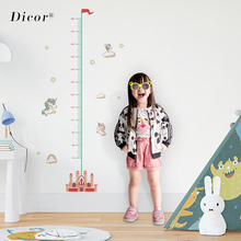 Cartoon Height Measure Wall Stickers for Kids Rooms Unicorn Height Chart Ruler Vinyl Removable Wall Decals Nursery Home Decor цена