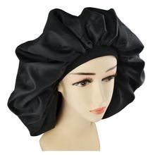 Pregnant mother hair cap high quality Super Giant Nightcap ladies hair care waterproof shower cap large satin silk night cap