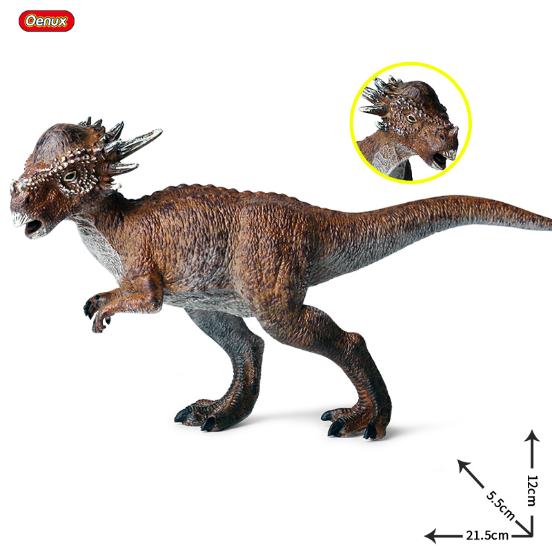 Oenux Prehistoric Jurassic Stygimoloch T-Rex Model Action Figures Original Dinosaur World Park Figurine Pvc Collection Kids Toy