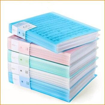 30 40 60 หน้า A4 แฟ้มโฟลเดอร์เพลง Examination Paper Organizer กระเป๋าเก็บโต๊ะกระเป๋าเอกสารแผ่นป้องกันกรณีเครื่องเ...