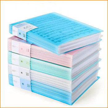 30 40 60 Pages A4 File Folder Music Examination Paper Organizer Storage Bag Desk Document Bags Sheet Protectors Case Stationery
